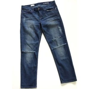 Gap Distressed Straight Leg Jeans :215